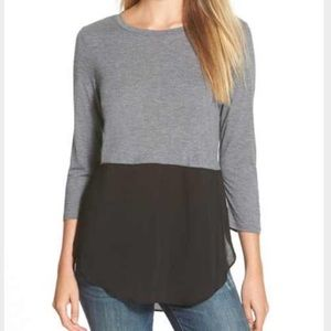 Two by Vince Camuto Tops - Two By Vince Camuto Mixed Media Top