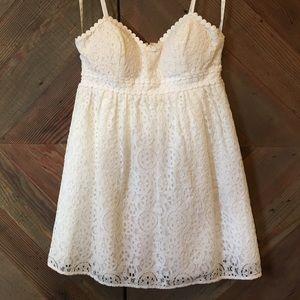 Lilly Pulitzer White Eyelet Lace Sun Dress
