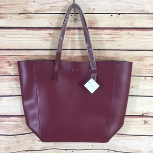 Macy's Handbags - Cranberry tote bag from Macy's (brand new)