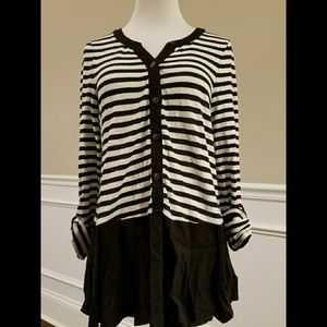 Anthropologie Tops - Anthropologie Striped Tunic with Skirt SZ M