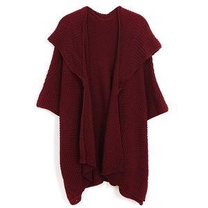 Sweaters - Burgundy waffle knit kimono sweater NEW⚡️