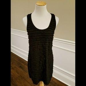 Free People Dresses & Skirts - Free People Black Stretch Ruffle Tank Dress SZ M