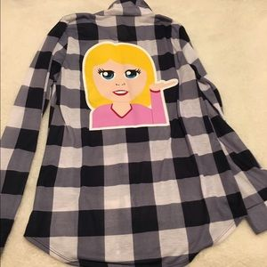 Polly & Esther Tops - NWT Polly and Ester Flannel