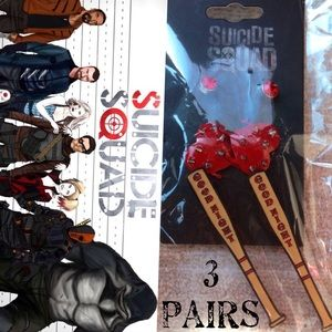 Hot Topic Jewelry - 🆕Suicide Squad Earring Trio