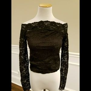 Free People Tops - Free People Stretch Lace Lined Top SZ M