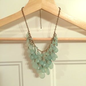 Teal Beaded Statement Necklace