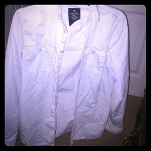 191 Unlimited Tops - Light Grey button down collard shirt