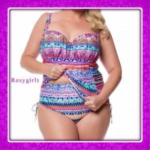 Jessica Simpson Other - Jessica Simpson Bali Breeze Plus Skirted Tankini