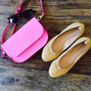 Banana Republic Shoes - Banana Republic Abby Nude Patent Leather Flats