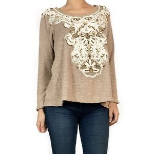 Anthropologie Tops - Anthropologie meadow rue embroidered beaded top