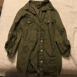 Sandra Ingrish Tops - Army green button up blouse