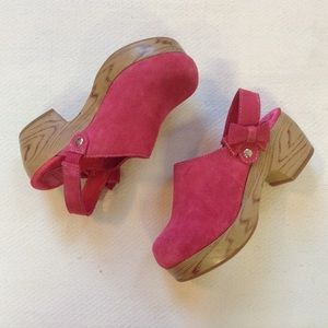 Gymboree Other - Gymboree Girls Clogs Pink Shoes Suede