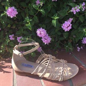 SHOEROOM21 boutique Shoes - Ladies high top ankle buckle strap flat sandals.