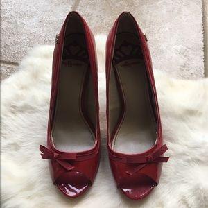Fergalicious Shoes - Red fergalisious peep toe pumps