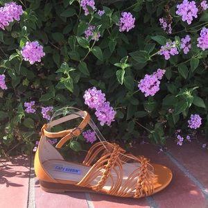 SHOEROOM21 boutique Shoes - Ladies high top ankle buckle strap flat sandal