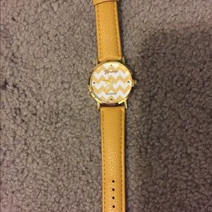 Geneva Platinum Accessories - Yellow Chevron Watch