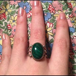 Vintage Jewelry - Vintage Malachite Ring