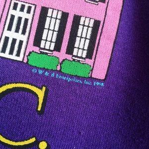 Vintage Tops - Charleston Rainbow Row Purple Sweatshirt