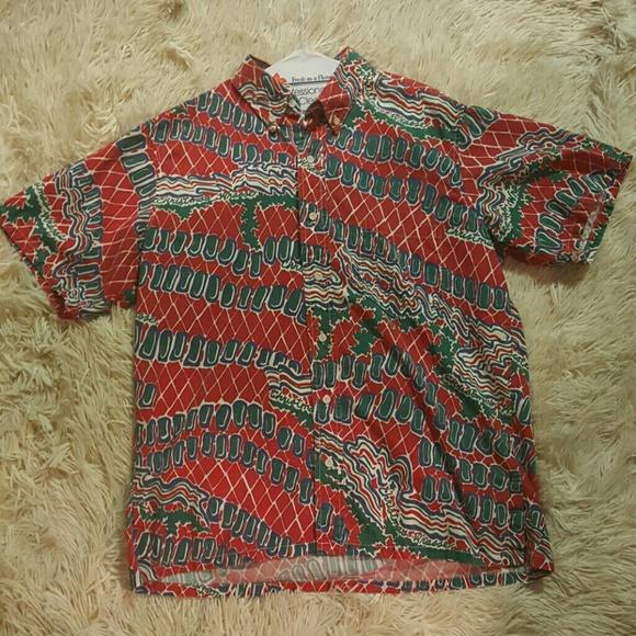 Christmas Hawaiian Shirts.Vintage Christmas Hawaiian Shirt Christmas Wrasse