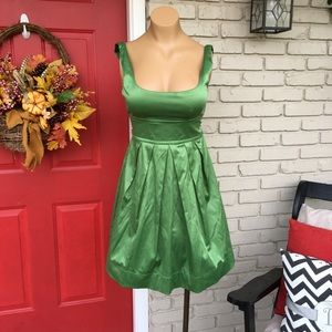 Teeze Me Dresses & Skirts - Green satin tie back dress