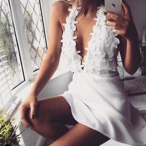 Dresses & Skirts - White Petal Halter Dress