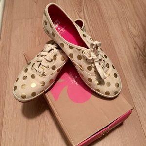 Kate Spade Keds Polka-dot Sneakers, size 8