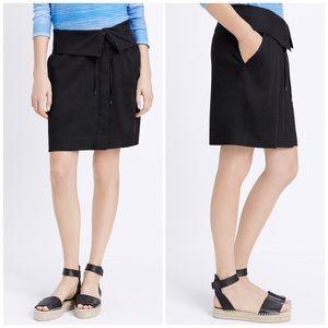Vince Black Fold Over Waistband Skirt