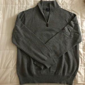 J. Crew Other - Men's JCrew half zip sweater L gray