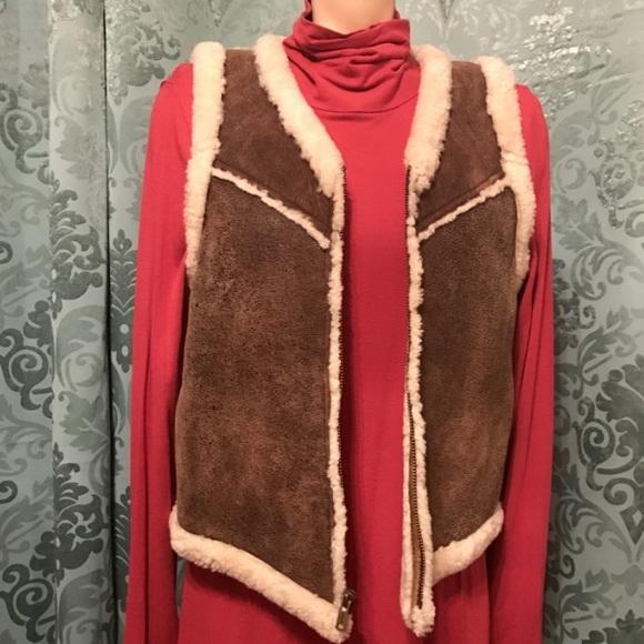 Ralph Lauren Fur Lined Leather Vest