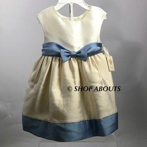 Laura Ashley Other - Baby Girl Party Dress Sleeveless Bow Crinoline New