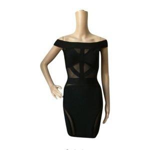 Herve Leger Dresses & Skirts - Black Peek-a-Boo Dress