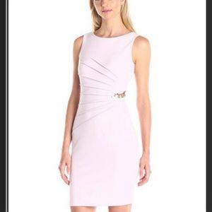 Ivanka Trump Dresses & Skirts - + Ivanka Trump Ruched Ponte Knit Dress wChainLilac