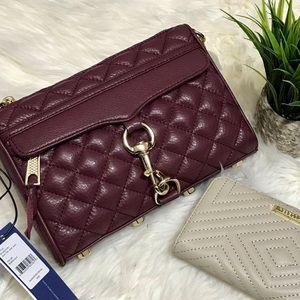 Rebecca Minkoff Handbags - 💲⬇️NWT Mini Mac Quilted Bordeaux Rebecca Minkoff
