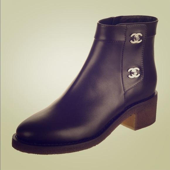 CHANEL Shoes - Chanel CC Turnlock Ankle Boots