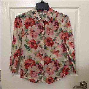 Madewell flora shirt Xs