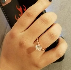 Jewelry - ON SALE Eternity Rose Gold Plated Engagement Ring