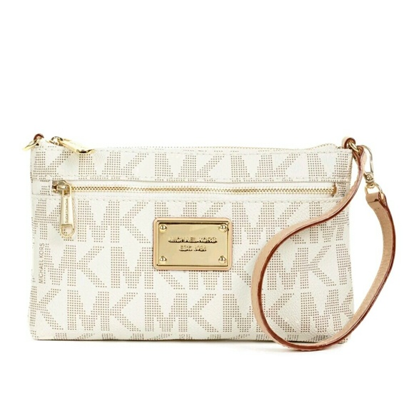 8f29c86d0349 Michael Kors Bags | White And Gold Clutch Wallet | Poshmark