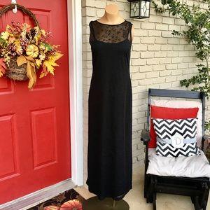 City Triangles Dresses & Skirts - Vintage black mesh overlay evening maxi dress