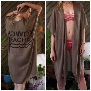 Fabfindz Other - Howdy Beaches Olive Kimono Cover Up
