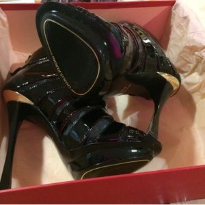 NEW IN BOX PATENT LEATHER CHARLES JOURDAN BOOTIES