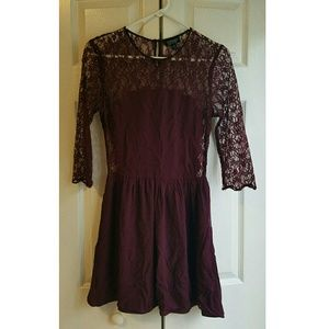 Topshop Dresses & Skirts - Topshop Maroon Lace Dress  Sexy All Lace Back