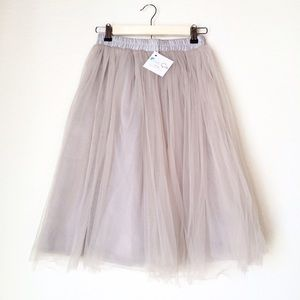 C'est Ca New York Dresses & Skirts - Dove Grey Claire Tulle Skirt [NEW]