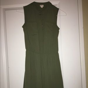 Olive green dress with pockets