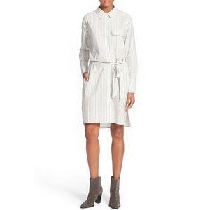 Equipment Dresses & Skirts - Equipment Delany Belted Stripe Shirtdress