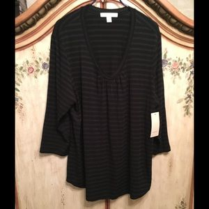 Sejour Tops - NWT SEJOUR V NECK TEE 3/4 SLEEVES 2x