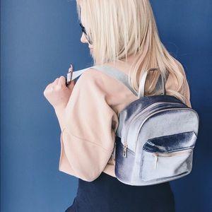 Handbags - Velvet Blue Mini Backpack