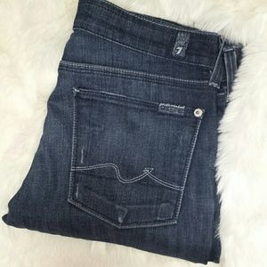 7 For All Mankind Denim - 7 For All Mankind Bootcut Dark Wash Jeans size 27