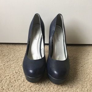 Shoedazzle Blue Pump Heels