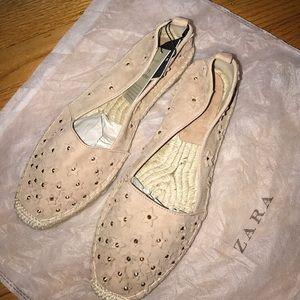 ZARA leather espadrilles with stars⭐️️
