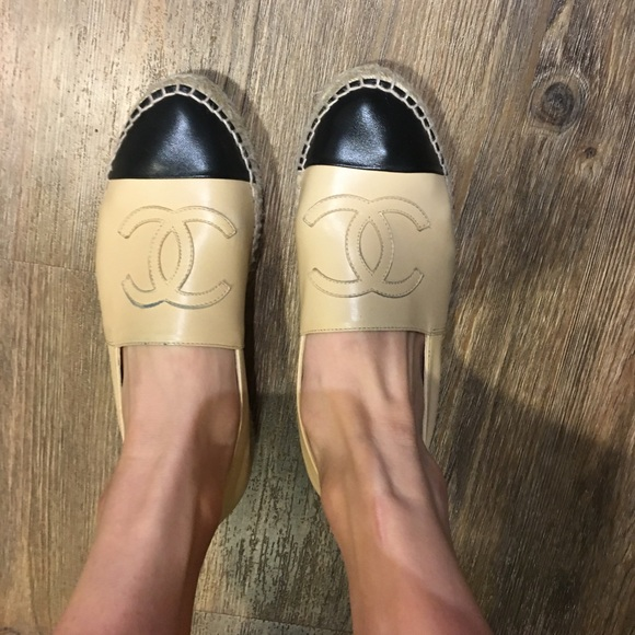 59bf4d9d93a4 CHANEL Shoes | Beige And Black Espadrilles 2017 | Poshmark